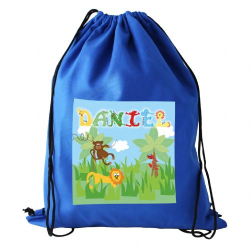 Personalised Animal Alphabet Boys Kit Bags